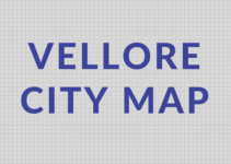 Vellore City Map covers important road routes and directions for various destinations of vellore city